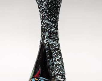 Italian San Marino, Lava or Smalto Roccia Glaze 1960s Tall Vase