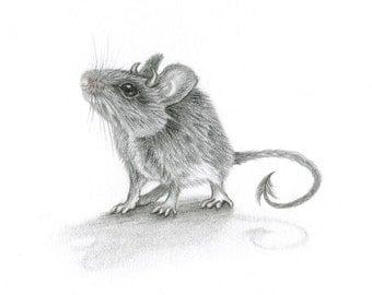 Demon Mouse — ORIGINAL drawing