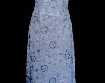 Soft Blue Beaded Gown           VG302