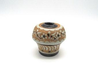 Mini Vase, Mini Pottery, Small Vase, Small Pottery Vase, Enamel Vase, Clay Vase, Vintage Vase, Flower Vase, Oil Lamp, Oil Lamp Parts