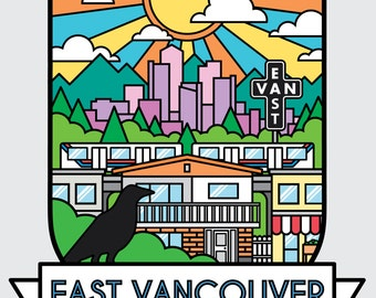 East Vancouver Shield Print