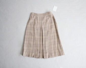 50s wool skirt | 50s plaid skirt | wool plaid skirt