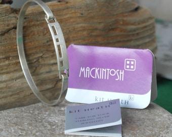 Vintage Scottish Kit Heath Sterling Silver Rennie Mackintosh style Geometric Bangle Bracelet in Original Box