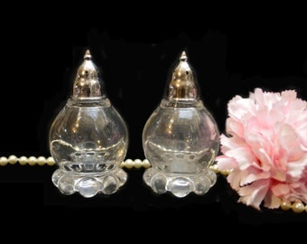 Vintage Candlewick Glass Shakers Collectible, Vintage Kitchenware, Shabby Chic Gift for Her