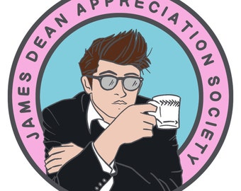James Dean Appreciation Society - SECONDS (pins with minor flaws)
