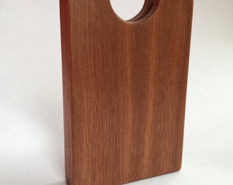 Mahogany Wooden Business Card Holder