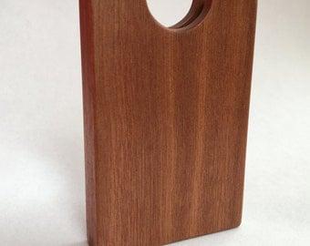 Mahogany Wooden Business Card Holder