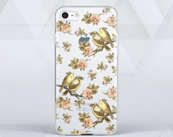 iPhone 6 Case Bird Transparent Case Clear Phone Case iPhone 6S Case Floral iPhone 5 Case iPhone 4S Case   iPhone 6 Plus Case Note 7 3C1018