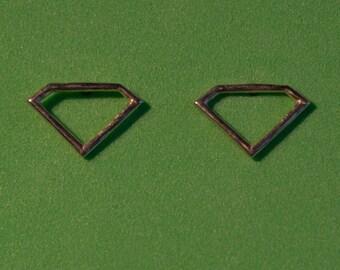 """Sterling silver """"Gem Shape"""" stud earrings"""