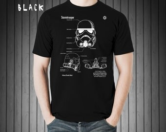 Shirt men, Storm trooper shirt, stormtrooper t shirt, star wars art, stormtrooper helmet, black t-shirt, blue t-shirt, star wars gift#P293