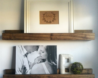 Picture Ledge Shelf - Rustic Ledge Shelf - Wood Shelf - Floating Shelf