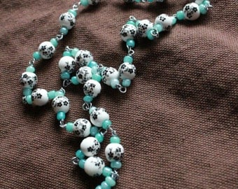 Little Flower Chaplet - Opaque Aqua