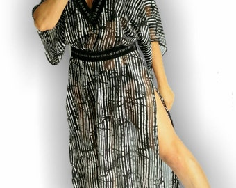 25% OFF Now Black Coverup, Zebra beach Coverup, Beach Caftan, Beach Coverups, swimsuit Coverups, Handmade, Honeymoon, Vacation, kaftan