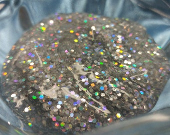 Disco Ball Clear Holographic Silver Glitter Slime Add Essential Oil Scent or Sweet Dessert Scent