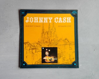 JOHNNY CASH Live In Prague - Vinyl LP Record, Cbs Records - Live Recording At Concert In Sport Hall, Prague, 11 April, 1978