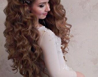 Bridal Headpiece Wedding Hair vine Bridal hairpiece Headdress Pearl Crystal Bridal Hair Accessory Wedding Headband wedding jewelry