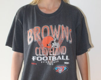 Cleveland Browns vintage 1994 TRENCH striped graphic tee football size L