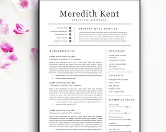 modern resume template modern resume design for word 12 page resumes - Resume Format With Cover Letter