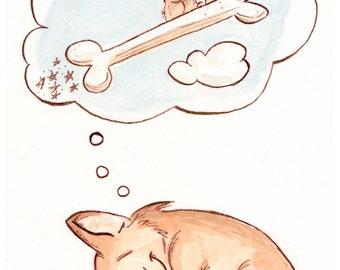 Corgi Dreams Print