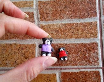 Miniature bear Polymer clay Teddy bear Miniature animal Tiny bear Gift for her Girl gift Bear gift Collectible miniature Tiny animal Present