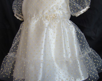 Girl's dress and baby of honor in tulle plumetis
