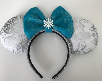 Disney Inspired Frozen Elsa Winter / Christmas Minnie / Mickey Mouse Ears