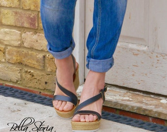 Vegan sandal Sofia Microfiber-Made in Italy-Bacon Vegan shoes