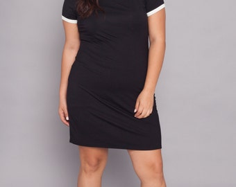 Plus Size Tee Dress | Black- Sizes 0X - 3X