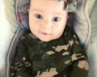 Camo Baby Headband or Hair Clip