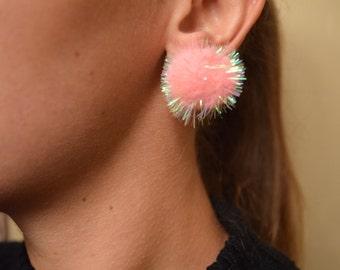 Pom Pom Earrings /pastel