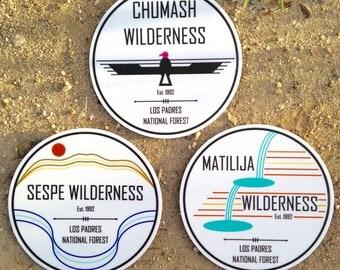 Ventura County Wilderness Sticker Collection