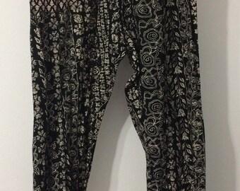 Loose Fitting Cotton Drawstring pants