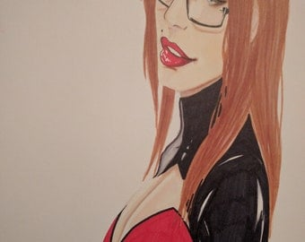 A4 drawing(print) of Ally from Sunstone