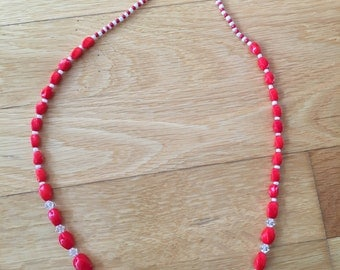 Fresh red necklace