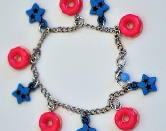 Donut Stars Bracelet Pink and Blue