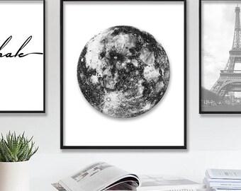 Moon Wall Art space wall art | etsy