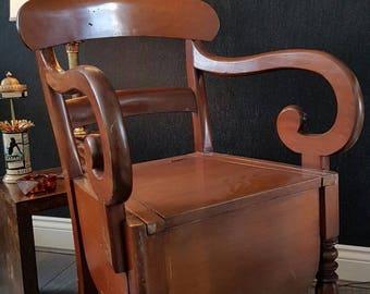 Victorian Mahogany Commode Chair
