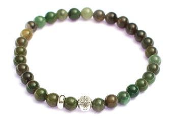 Hunters green HappyBuddha bracelet