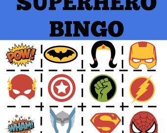 Superhero Printable Activity Pack