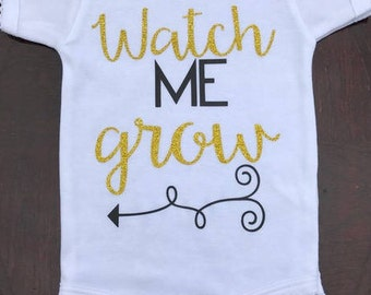 Watch Me Grow, Baby Shower Gift, Coming Home Outfit, New Baby Girl, Baby Girl