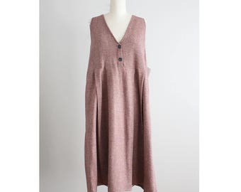 linen and wool jumper | flax dress | mauve wool dress |
