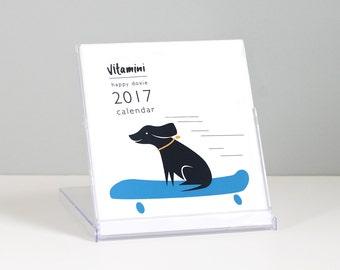 Dachshund Calendar / 2017 Calendar / Happy Doxie / Desk Calendar / Stocking Stuffer / CD Calendar