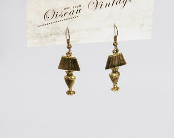 Vintage Lamp Dangling Hook Earrings