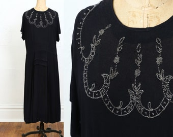 SALE 1930s Beaded Dress