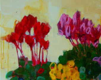 Original Oil Painting On Canvas Flowers Floral Still Life Painting By Bobbie Jansen on Etsy