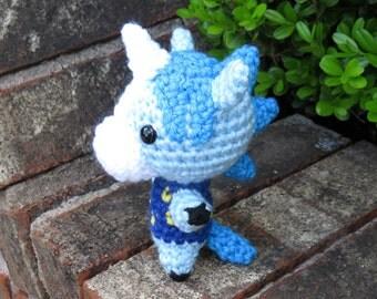 READY TO SHIP - Chibi Animal Crossing Amigurumi - Julian. Animal Crossing Horse / Unicorn Villager. Animal Crossing Custom Crochet Plush.