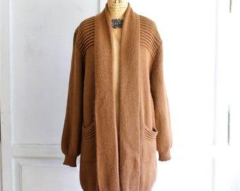oversized slouchy sweater coat hand knit alpaca