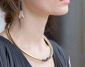 Neta Choker | Curved Collection | Modern Design | Hand Made | Gift For Her | Geometric Accessories