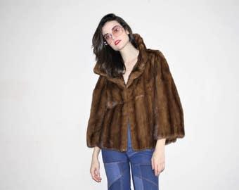 Designer RARE VTG Vintage 1950s Christian Dior Mink Fur Coat  - Vintage 50s Dior Fur Coats - W00401