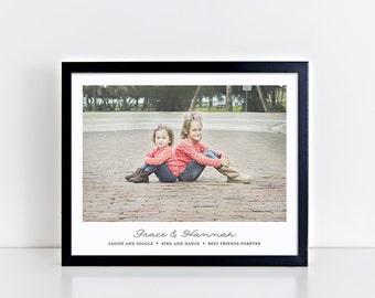 Personalized Sisters Wall Art, Sister Gift, Sister Photo Gift, Sister Wall Decor, Sister Sayings, Girls Room Decor